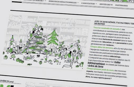 Une de mes illustrations chez les belges !